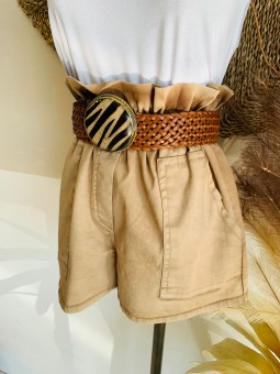 Pantalón camel corto Mery...