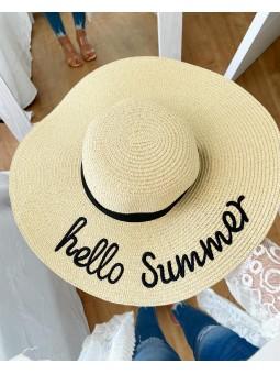 Sombrero rafia hello summer