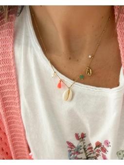 Collar abalorios multicolor...