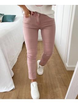 Pantalón vaquero rosa liso...
