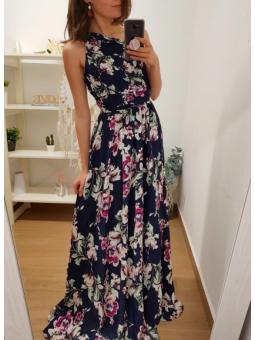 Vestido asimétrico flores...