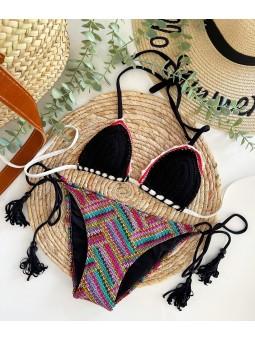 Bikini crochet estampado...