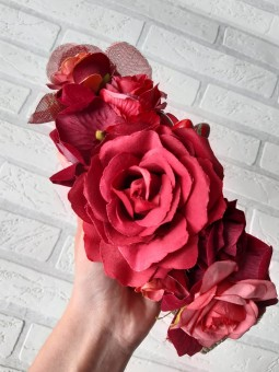 Cinturón rafia flores...