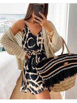 Rebeca beige tricot ancho...