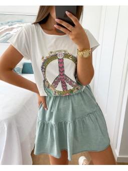 Camiseta dibujo símbolo paz