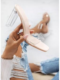 Sandalia transparente suela...
