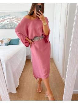 Vestido frambuesa estilo...