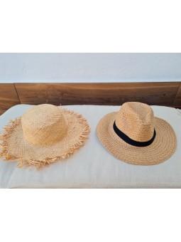 Sombrero liso rafia Farm