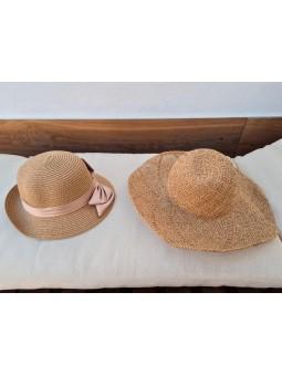 Sombrero rafia beige