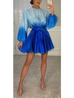 Vestido corto degradé azul...