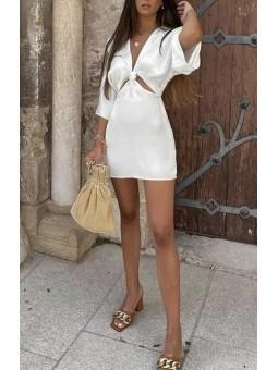 Vestido blanco cut-out...