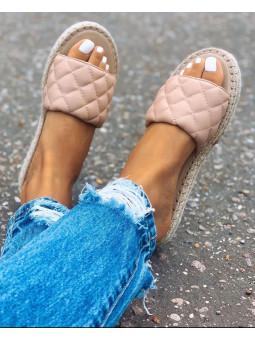 Sandalia acolchada rosa...