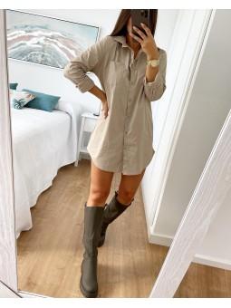 Vestido / camisa beige...
