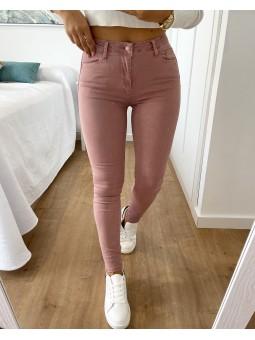 Pantalón vaquero liso rosa...