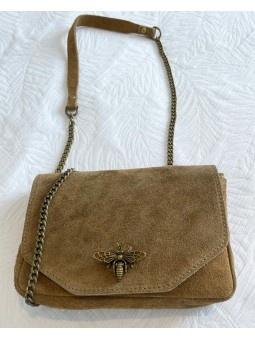 Bolso pequeño taupe Bee 0318