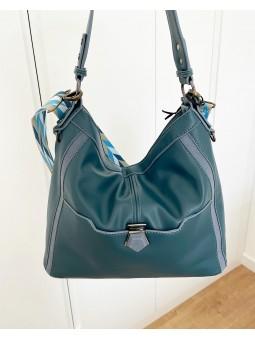 Bolso grande azul esmeralda...