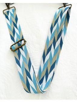 Asa geométrica tonos azules