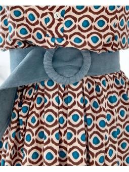 Cinturón azul fajín HEBILLA...