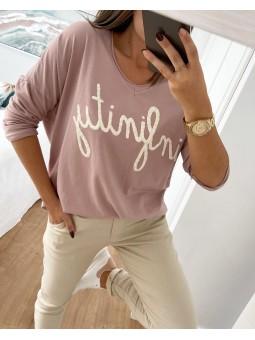Suéter rosa palo INFINITY...