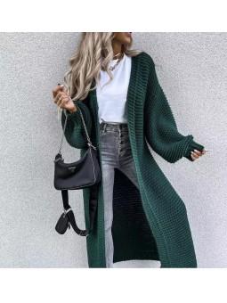 Maxi chaqueta larga verde