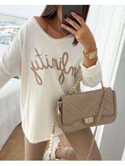 Suéter blanco INFINITY...