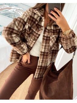 Sobrecamisa tonos marrón...