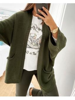 Chaqueta lana verde militar...
