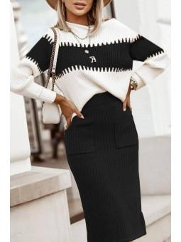 Conjunto falda + suéter...