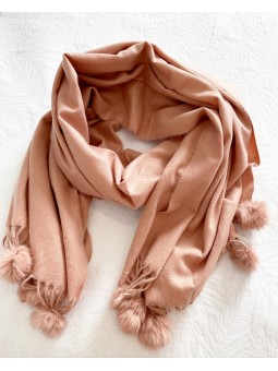 Bufanda lisa rosa mini...