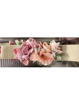 Cinturon elastico flores...