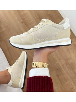 Zapatillas beige brilli...