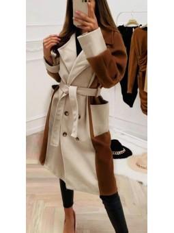Abrigo bicolor forrado...