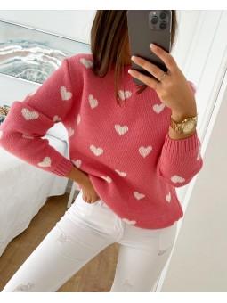 Suéter fresa corazones...