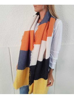 Maxi bufanda amarillo/azúl/beige/naranja/negro