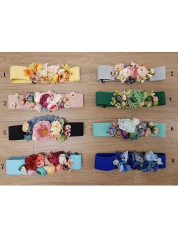 Cinturones flores