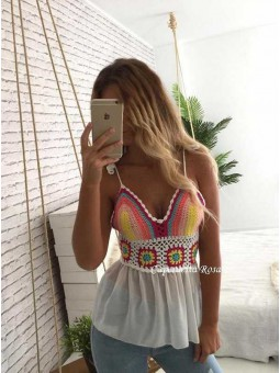 Top croche colores