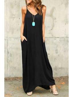 Vestido oversize negro tirantes